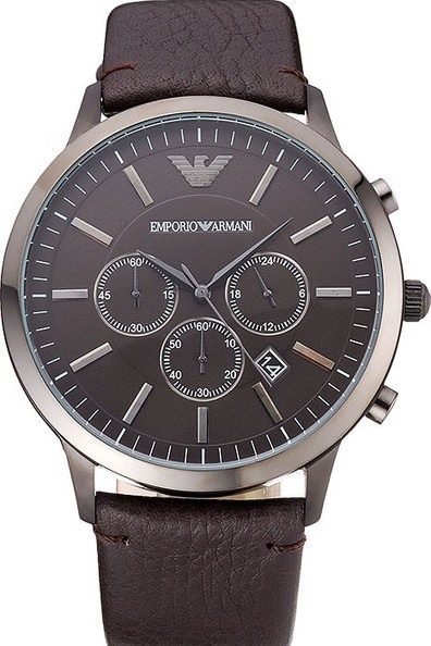 3e3164fdb2f Fake Emporio Armani Classic Chronograph Brown Ion Plated Mens Watch