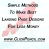 Great landing page design