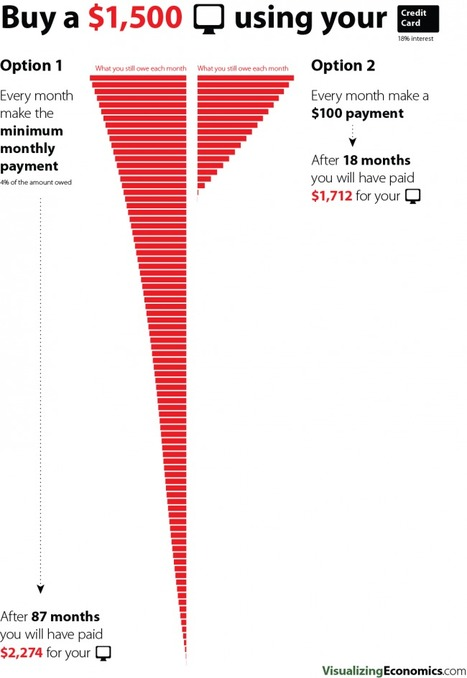 Pay off your credit card debt — Visualizing Economics | Business Education | Scoop.it