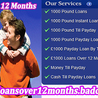 1000 Pound Loans Over 12 Months
