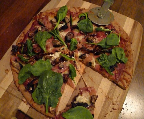 Prosciutto, Feta, Spinach and Fig Pizza | ¿Vege-Que? Healthy Recipes and Resources | Scoop.it