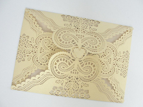 Spanish Style Laser Cut Invitations From Lavend