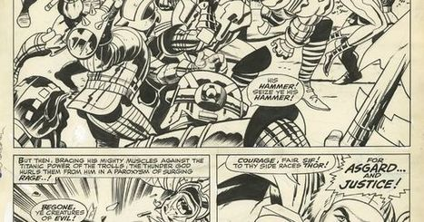 """THOR #137 PAGE 4 2/3 SPLASH ( 1967, JACK KIRBY ), in www.ComicLink.com Original Art Auctions and Exchange's CLOSED FEATURED AUCTION HIGHLIGHTS - 05/2015 Comic Art Gallery Room - 1214517 