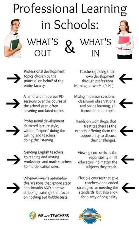 Educational Technology and Mobile Learning: Nice Visual on The Ins and Outs of Professional Development | eduhackers.org | Scoop.it