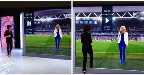 French TV presenter shows us the future with this optical illusion   JOE.co.uk   TV Future   Scoop.it
