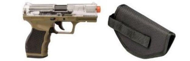 Crosman Stinger P9T Soft Air Pistol, Clear Dark