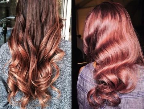 We raken maar niet uitgekeken op deze bloedmooie haartrend: Rosé Gold - Beautify   kapsel trends   Scoop.it