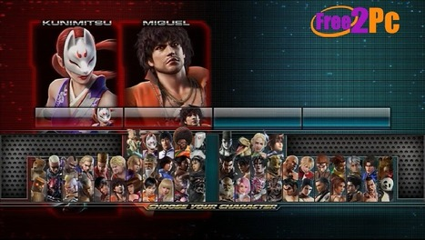 How to download and install tekken tag tournament 1 2game free.