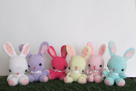 Handmade Knitted Toy Amigurumi Bunny Toy Stock Photo (Edit Now ... | 313x467