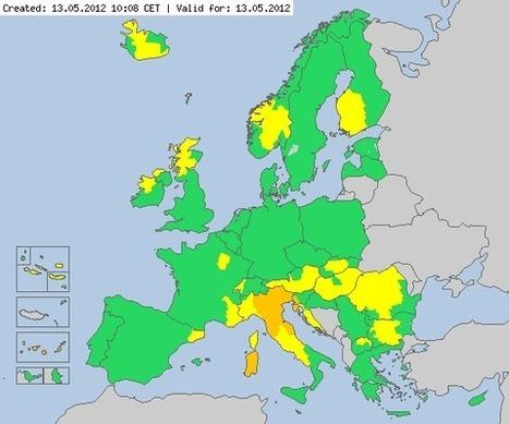 Meteoalarm - severe weather warnings for Europe - Mainpage | omnia mea mecum fero | Scoop.it