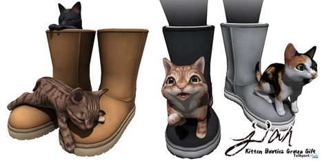 Kitten Booties Group Gift by JIAN | Teleport Hub - Second Life Freebies | Second Life Freebies | Scoop.it