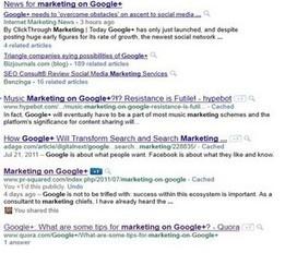 Quick Experiment with Google+ SEO | ten Hagen on Google | Scoop.it