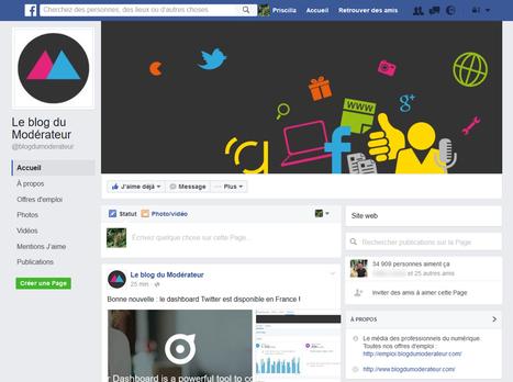 Un nouveau design pour les pages Facebook ? - Blog du Modérateur | RS best practices | Scoop.it