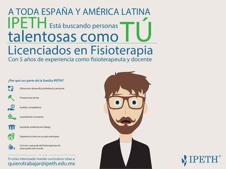 Oferta de Reclutamiento para Profesores Internacionales Hispano-Hablantes en #Fisioterapia para la Universidad #IPETH | Millanettic y la Fisioterapia | Scoop.it