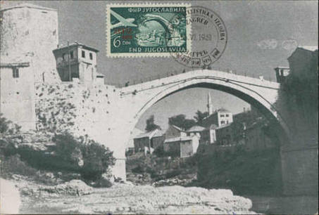 Carte postale ancienne de Stari Most (Mostar) : Les cartes postales sont-elles des « lieux de mémoire » ? (Cafés géographiques) | Géographie des Balkans | Scoop.it