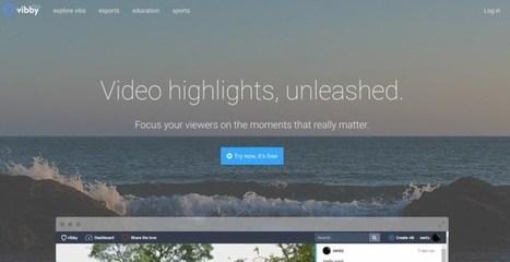 Vibby. Choisir et partager facilement des passages d'une vidéo   TUICE_primaire_maternelle   Scoop.it