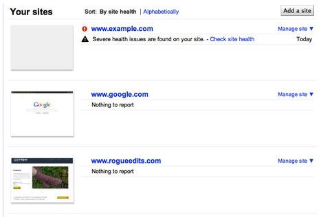 Google surveille l'état de santé de votre site Web | Méli-mélo de Melodie68 | Scoop.it