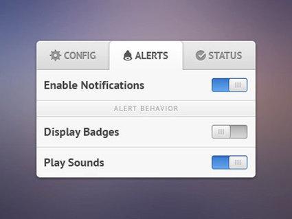 Free PSD Designs of Options Panel & Settings Box - Freebies | Web Design & Development | Scoop.it
