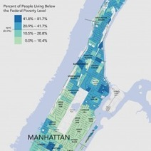 Poverty in Manhattan: Two Manhattans | Visual.ly | IB GEOGRAPHY URBAN ENVIRONMENTS LANCASTER | Scoop.it