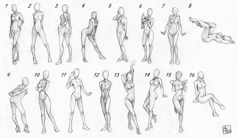 pose references in drawing references and resources