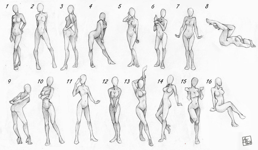 Pose References Female | Drawing References and