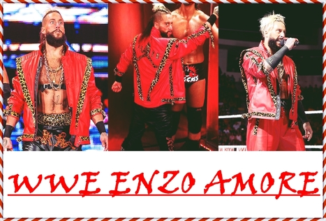 wwe enzo amore red jacket top celebs jackets celebrity outfits scoopit