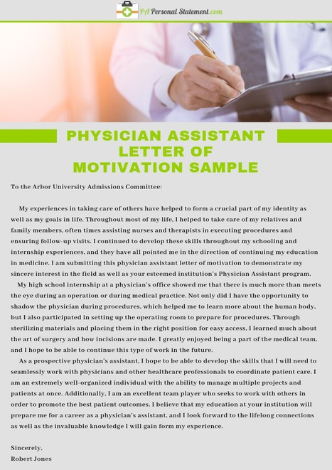 Physician Assistant Cover Letter Sample   PA Pe...