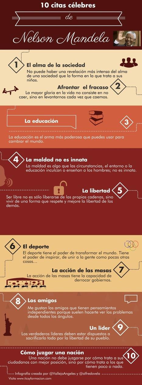 10 citas célebres de Nelson Mandela #infografia #infographic #citas #quotes   Pedagogia Sistèmica   Scoop.it