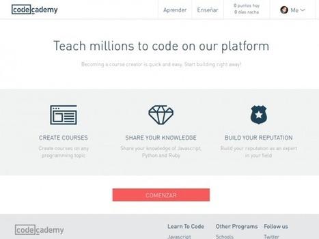 Codecademy: Aprende a programar de forma fácil   aprendizaje y tic   Scoop.it