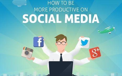 Cómo aumentar la productividad en Social Media (infografía) | Utilización de Twitter la Educación | Scoop.it