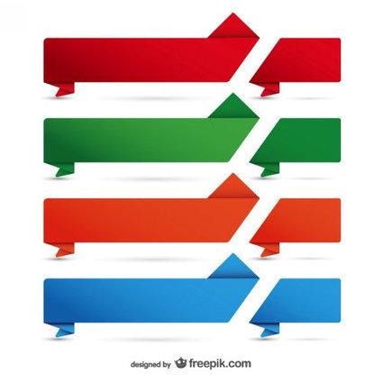 """50+ Vectores Gratuitos de Listones, Franjas o """"Ribbons"""" para tus diseños   Sobresalen.com   Recursos   Scoop.it"""