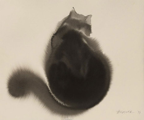 Spooky Watercolor And Ink Cats By Endre Penovác   16s3d: Bestioles, opinions & pétitions   Scoop.it