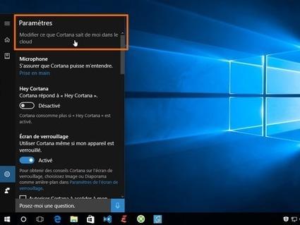 Windows 10 : les réglages pour mieux protéger votre vie privée | Geeks | Scoop.it