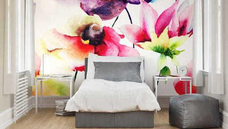 To musíte mať! Tapeta ako maľovaná vodovými farbami podčiarkne váš interiér | domov.kormidlo.sk | Scoop.it
