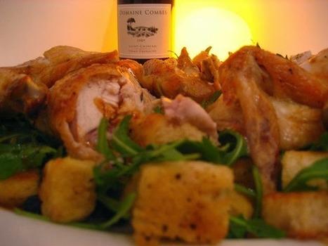 Recette de poulet au beurre, fines herbes et vin blanc garni de pommes de terre sautées | Recettes de cuisine maison | Scoop.it