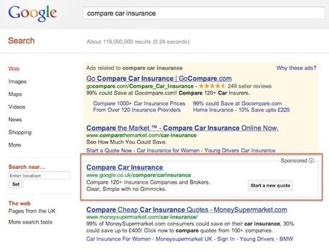 Google impose son comparateur d'assurance auto (UK, DE, FR) | Google et le tourisme | Scoop.it