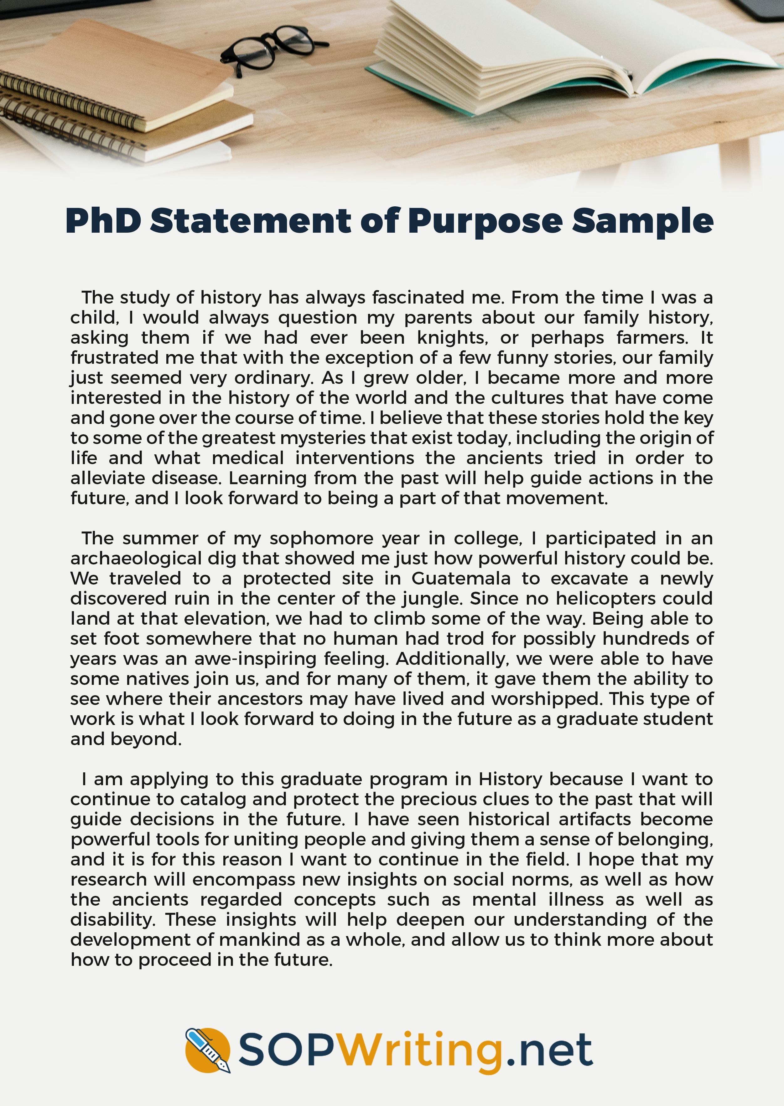 Statement Of Purpose Samples