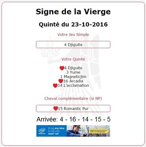 9 591.06€ pour le Signe de la Vierge au Tiercé-Quarté-Quinté+ du 23/10 à Saint-Cloud. | Pariez avec ASTROQUINTE | Scoop.it