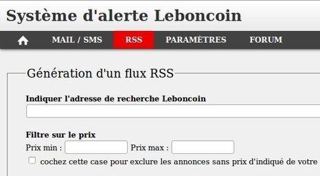 LBCAlerte : alerte mail, alerte SMS et alerte RSS pour Le Bon Coin | François MAGNAN  Formateur Consultant | Scoop.it