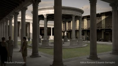 Itálica Romana: Macellum, Pompeya | GenealoNet | Scoop.it