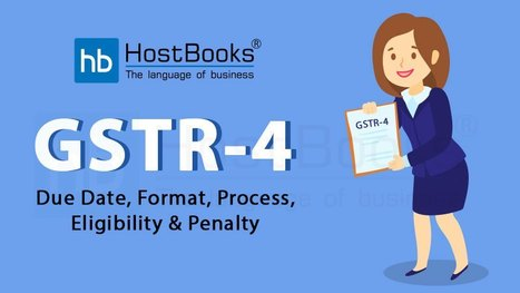 Gstr 4 Filing In Gst Tds Accounting Software India Hostbooks