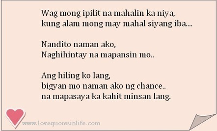 Tagalog Love Quotes For Her Him Love Quotes I