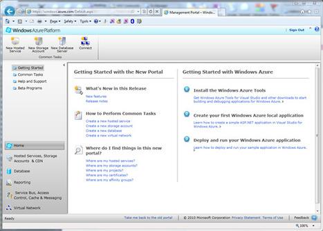 Guide pas à pas : déploiement d'une application exemple dans Windows Azure   Time to Learn   Scoop.it