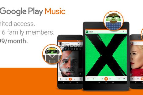 Google Play Music : un abonnement familial à 14,99 dollars | Veille Hadopi | Scoop.it