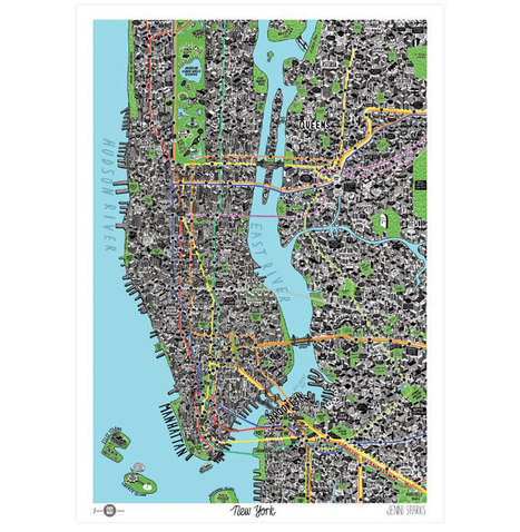 New York mapped by hand   Webdesigner Depot   Thinking Geographically   Scoop.it