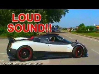 pagani zonda cinque sound - start, rev and acce