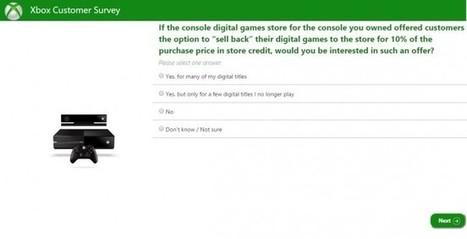 Xbox One : Microsoft sonde les joueurs sur la revente de jeux dématérialisés | Veille Hadopi | Scoop.it