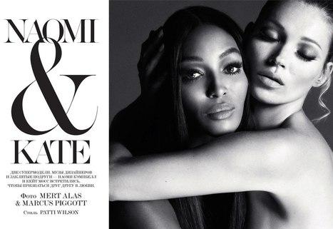 ru_glamour: Kate Moss & Naomi Campbell для Interview Russia December 2012 | Imatge | Scoop.it