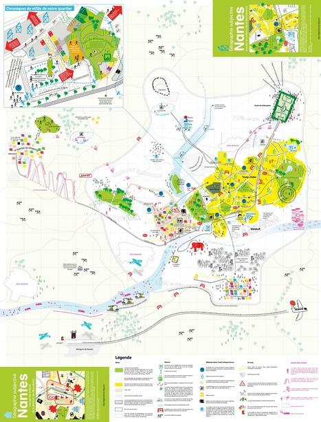 Carte : Nantes vue par les enfants de la Manufacture (Géographie subjective) | revue de johane | Scoop.it