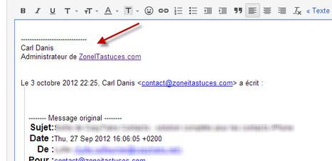Placer votre signature dans le haut de votre réponse sur Gmail   Social Media for dummies   Scoop.it